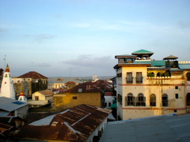 A view of Stone Town, Zanzibar, from the roof of our hotel.