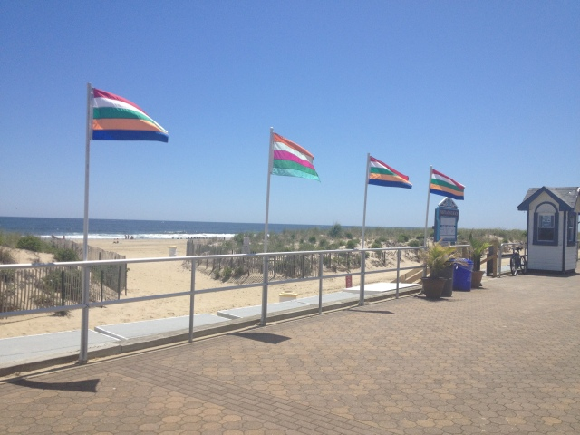Bradley Beach boardwalk and dunes pre- Hurricane Sandy